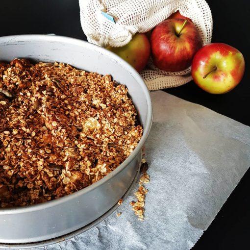 Gezonde granola appeltaart